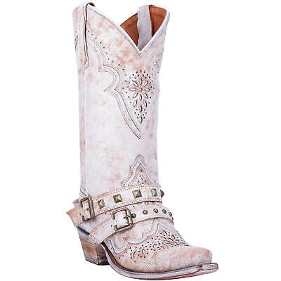 Dan Post Ladies Restless White Distressed Boots DP4063