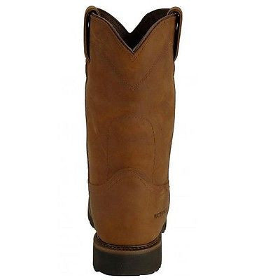 Justin Men's Wyoming Brown Steel Toe Waterproof Work Boot WK4961 - Wild West Boot Store - 4