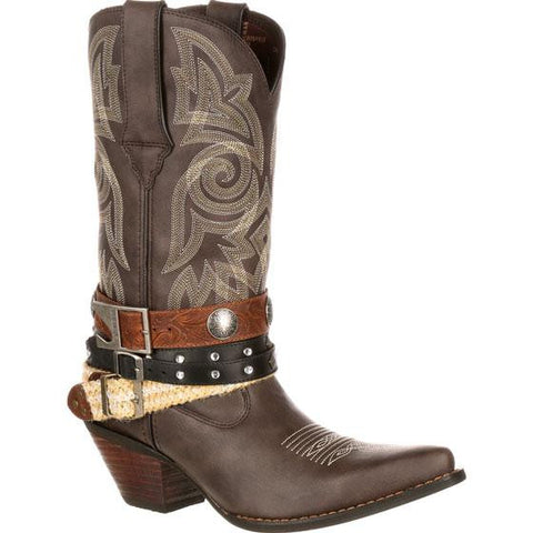 Durango Ladies Crush Brown Mix & Match Accessory Harness Boots DRD0123 - Wild West Boot Store - 1