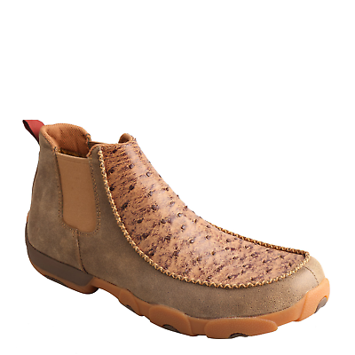 Twisted X Men's Brown Ostrich Driving Moc Shoes MDMG003