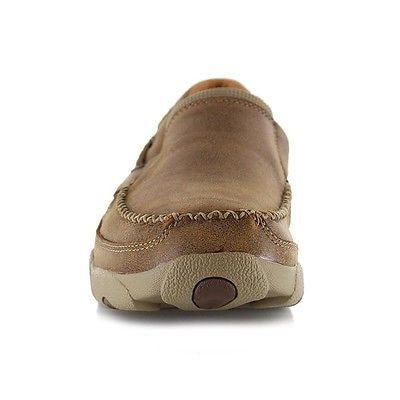 Twisted X Men's Brown Bomber Slip On Driving Mocs MDMS002 - Wild West Boot Store - 2