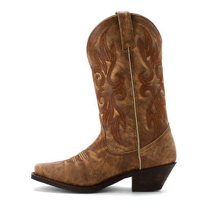Laredo Ladies 	 Maricopa Tan Crackle Boot 51041 - Wild West Boot Store - 5