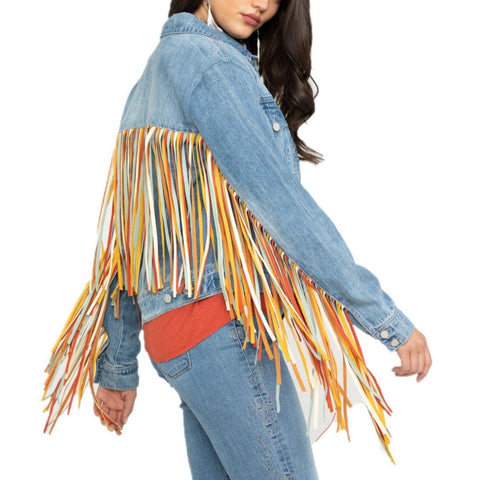 Scully Ladies Denim Fringe Jackets HC599-DEN