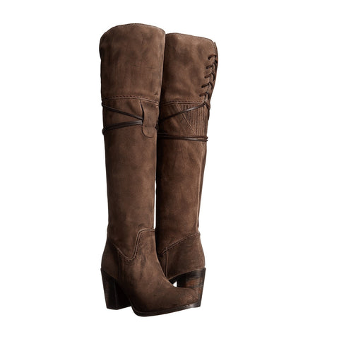Freebird by Steven Brock Grey Suede Over-the-Knee Boot FB-BROCK-GRY - Wild West Boot Store