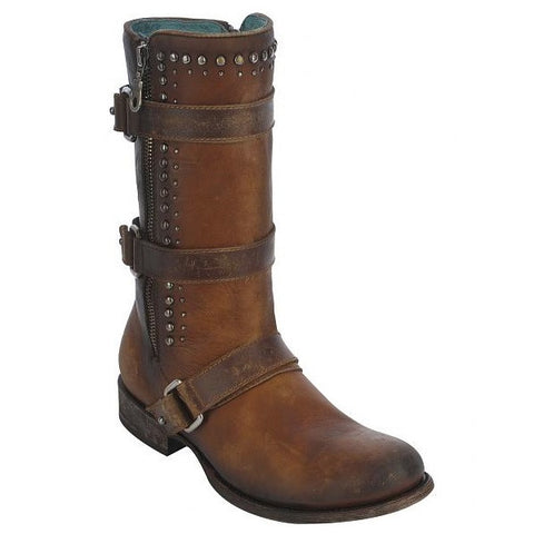 Corral Ladies Brown Studden Harness Stud Boot C2966 - Wild West Boot Store - 1