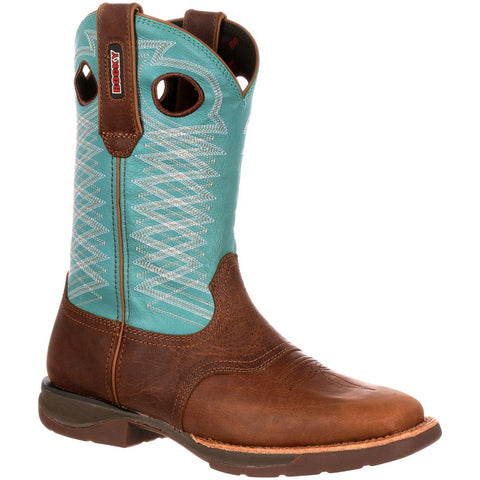 Rocky Ladies Brown/Teal Boot RKW0168 - Wild West Boot Store - 1