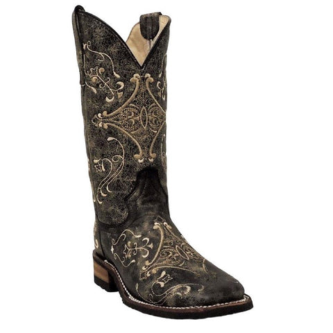Circle G By Corral Ladies Brown Crackle/Bone Embroidery Boot L5228 - Wild West Boot Store