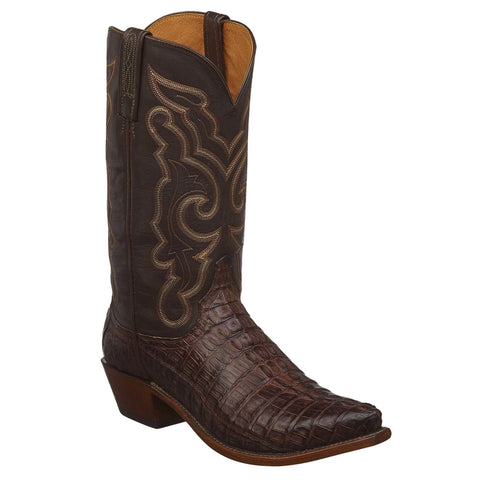 Lucchese Men's Franklin Brown Hornback Caiman Tail Boot N1153.73 - Wild West Boot Store