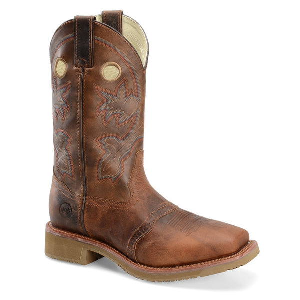 Double H Men's Brown Wide Square Toe ICE™ Roper Boot DH5134 - Wild West Boot Store