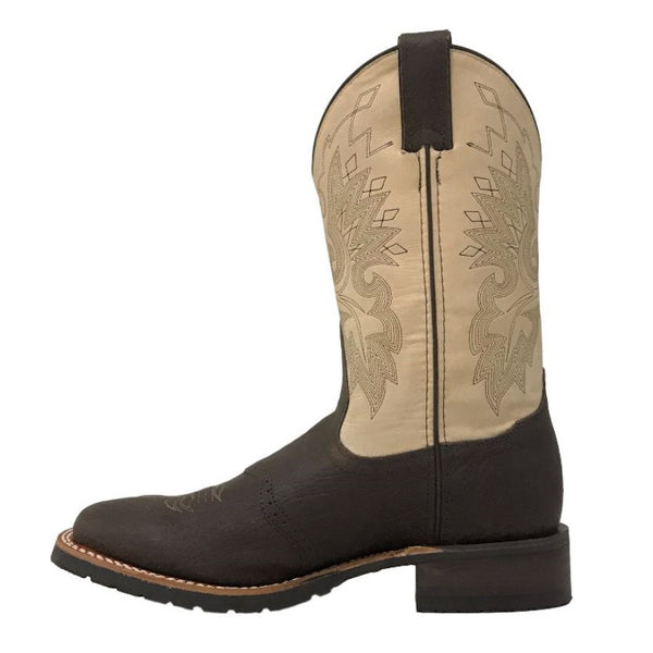 Double H Men's Brown/Cream Square Toe Boots DH3613 - Wild West Boot Store