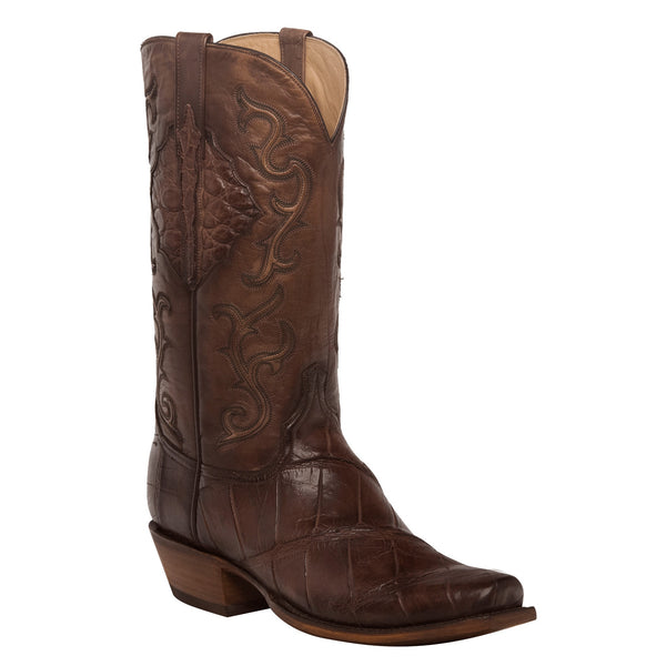 Lucchese Men's Ace Chocolate Brown Giant Gator Boot HL1031.73 - Wild West Boot Store