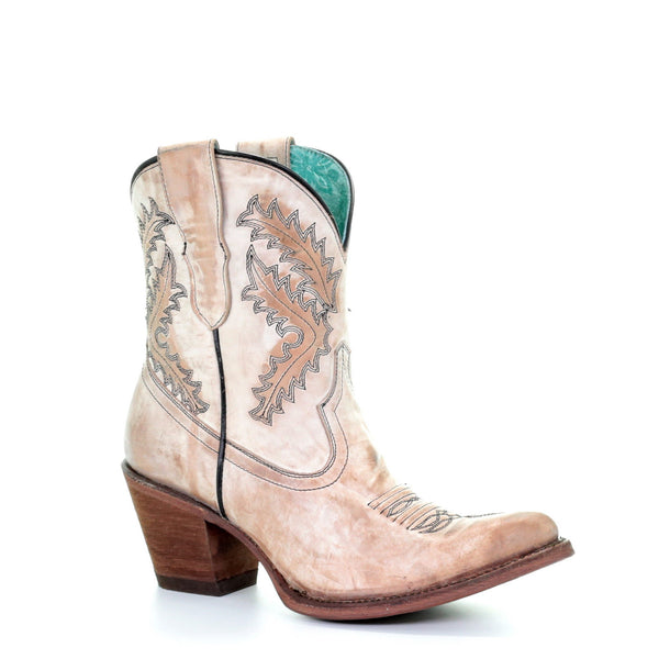 Corral Ladies Rose Embroidery Bootie E1437