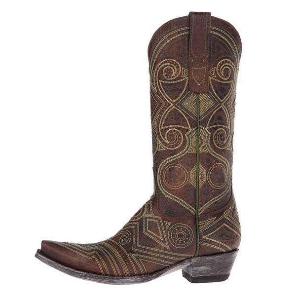 Old Gringo Ladies Brass Lerida Embroidered Boots L2392-2 - Wild West Boot Store - 5