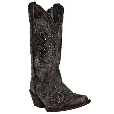 Laredo Ladies Lucretia  Black Embroidery & Studs Boots 52133