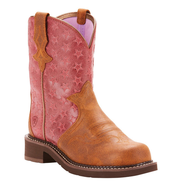 Ariat® Ladies Fatbaby Heritage Trio Pink Western Boots 10025027 - Wild West Boot Store