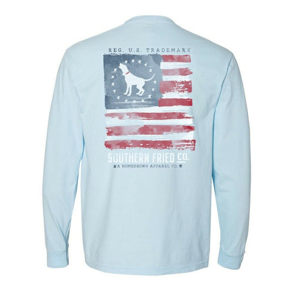 Southern Fried Cotton Flying Free Chambray LS T-Shirts SFM31417