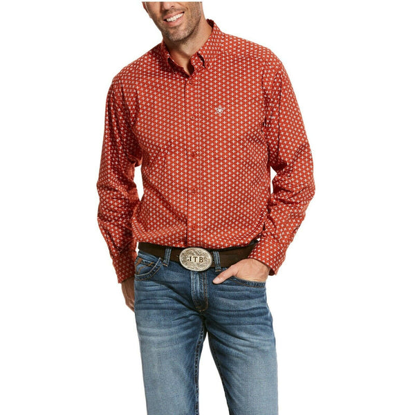 Ariat® Men's Copper Rust Stageman Stretch Classic Fit Shirt 10028349
