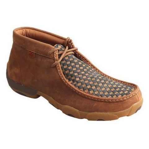 Twisted X Men's Checkered Driving Moc MDM0057 - Wild West Boot Store