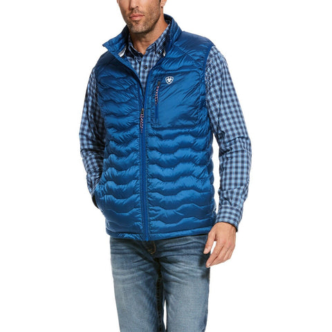 Ariat Men's Ideal 3.0 Blue Down Insulated Packable Vest 10028426