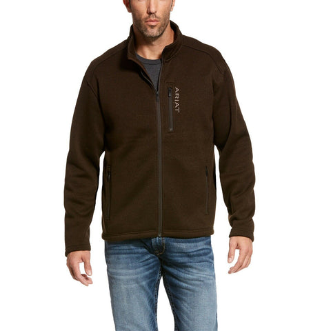 Ariat® Men's Caldwell Full Zip Dark Brew Brown Sweater Jacket 10027960