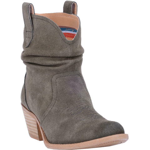Dingo Ladies Jackpot Olive Leather Slouch Booties DI132-OLV