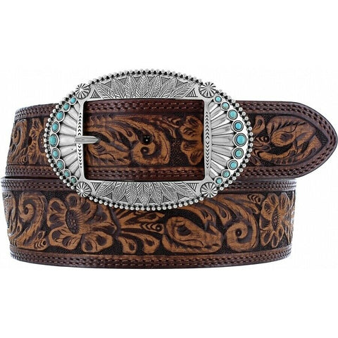 Justin Ladies Brown Native Spirit Belt C21455