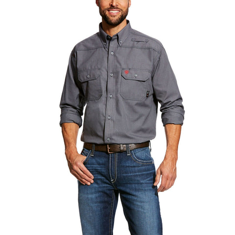 Ariat® Men's FR Featherlight Gunmetal Grey Work Shirt 10025429