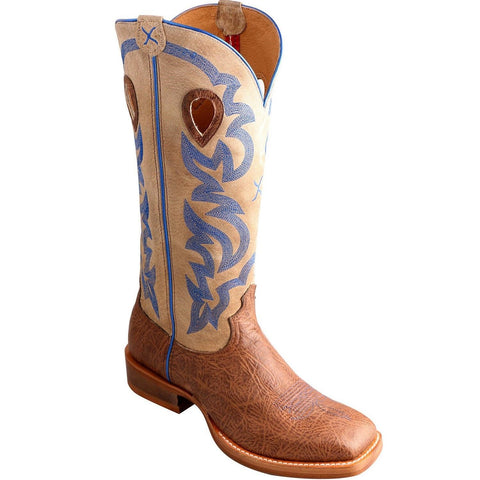 Twisted X Buckaroo Men's Crazy Horse Shoulder Cream Boot MBKL012 - Wild West Boot Store