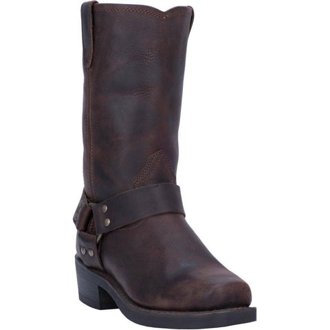 Dingo Men's Dark Brown Dean Leather Harness Boots DI19074