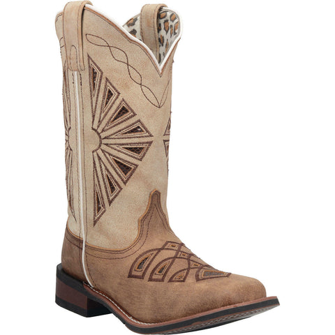 Laredo Ladies Kite Days Brown Leather Boots 5821