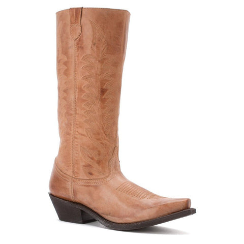 Laredo Ladies Devin Tan Zip Western Boot 52022 - Wild West Boot Store