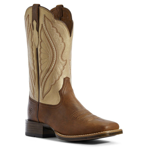 Ariat® Ladies Pop Gold and Sassy Brown PrimeTime Boots 10031646