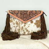 American Darling Brown & White Cowhide Crossbody ADBGD104