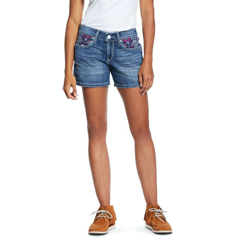"Ariat® Ladies Boyfriend Mika Eleanor Mid Rise 5"" Shorts 10032036"