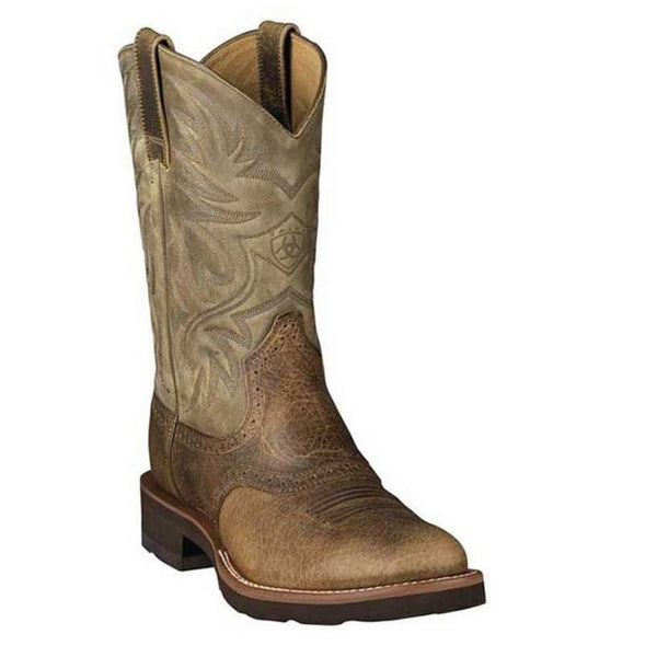 Ariat® Men's Heritage Crepe Earth Brown Saddle Vamp Boot 10002559 - Wild West Boot Store