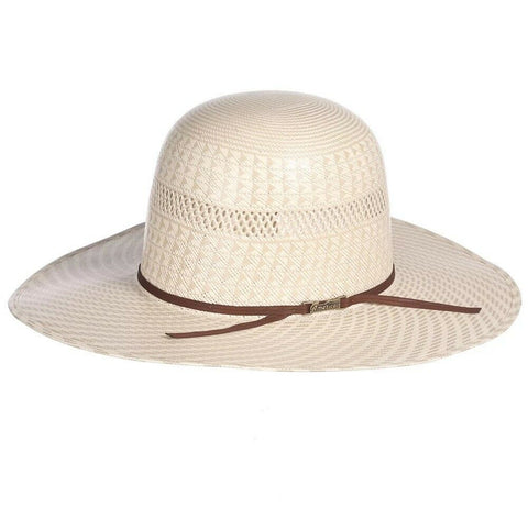 American Hat Co. Cream Unshaped Western Hat With Brown Band  6100