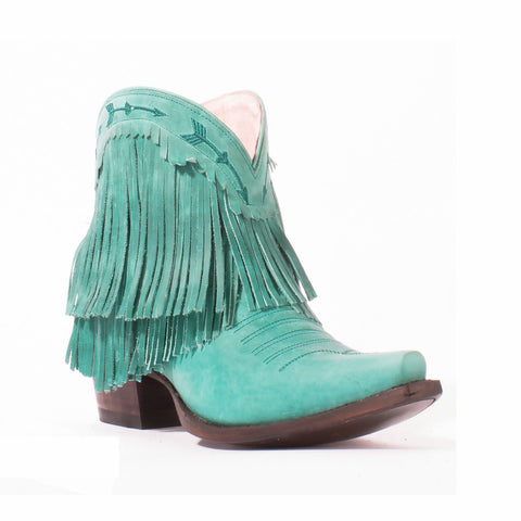 Junk Gypsy by Lane Spitfire Turquoise Fringe Boot JG0007D - Wild West Boot Store - 1