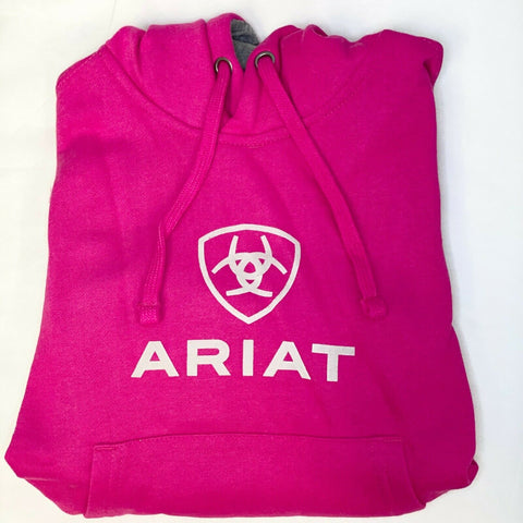 Ariat® Kid's Cabaret Pink Graphic Logo Hoodie 10026723
