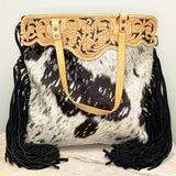 American Darling Black, White, and Silver Cowhide Purse ADBGS143ACSL