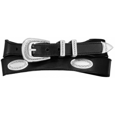 Onyx Men's Black Taper Ornament Belt 39103