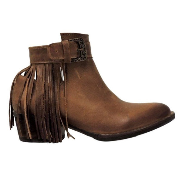 Circle G by Corral Ladies Burnished Brown Back Fringe Bootie Q0030 - Wild West Boot Store