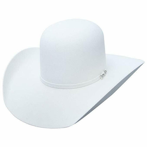 American Hat Co. 6X White Felt Open Crown Western Hat 6XWHTOC