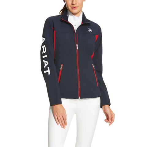 Ariat® Ladies New Team Navy & Red Softshell Full-Zip Jacket 10019208