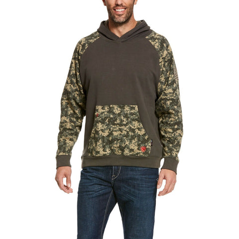Ariat® Men's FR DuraStretch Patriot Sage Green Camo Hoodie 10027911
