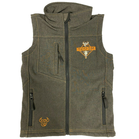 Cowboy Hardware Boys Heather Brown Cowboy TOUGH Vest 387100-664
