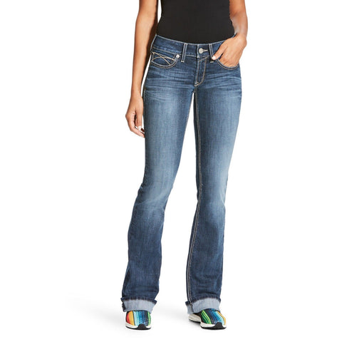 Ariat® Ladies R.E.A.L Mid Rise Tulip Stretch Boot Cut Jeans 10023500 - Wild West Boot Store