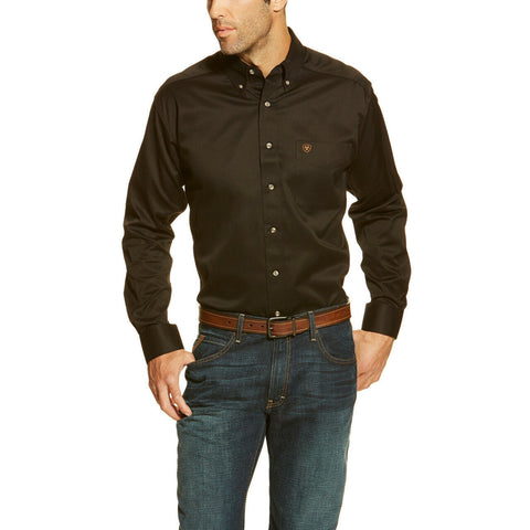 Ariat® Men's Casual Series Black Fitted Button-Up Shirt 10034229