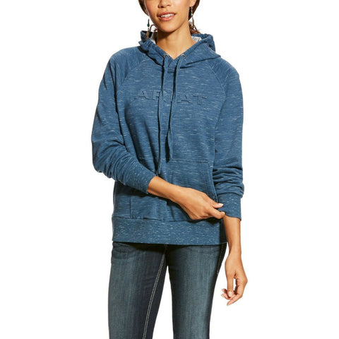 Ariat® Ladies Ensign Blue R.E.A.L Logo Hoodie 10024280