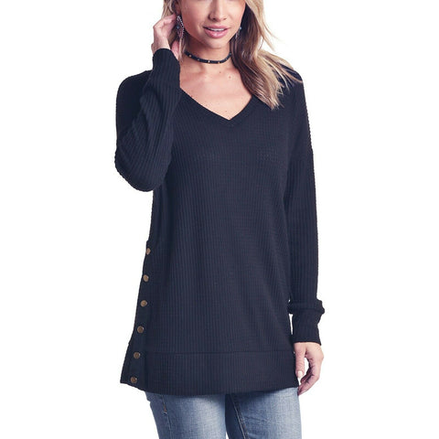 Panhandle Ladies Black Long Sleeve Knit Shirt L8T6430-01