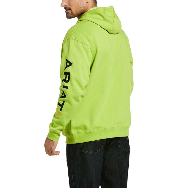 Ariat Men's Rebar Graphic Logo Lime Green & Black Work Hoodie 10032994
